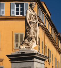 La statue du premier consul, place Foch, est le premier monument érigé à la gloire de Napoléon (Photo Ville d'Ajaccio).