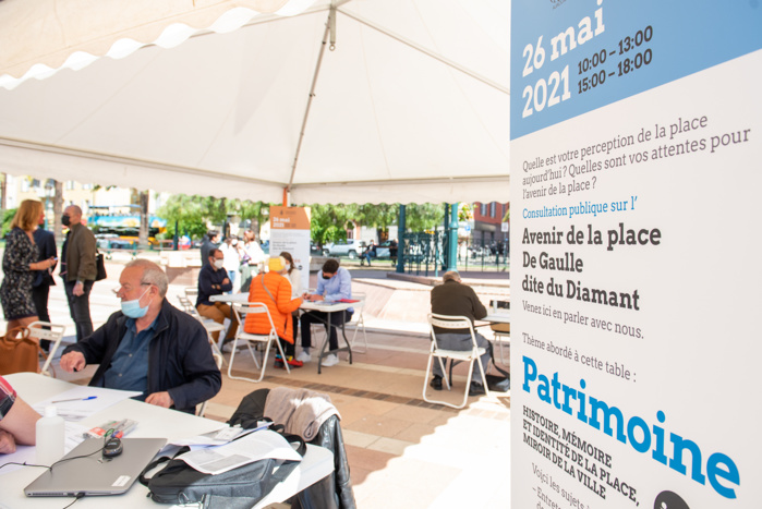 Consultation publique sur l'avenir de la place du Diamant, place du général De Gaulle