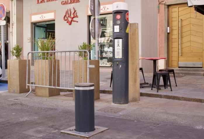 Mise en service des bornes de la rue Fesch