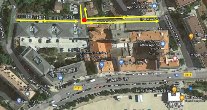Arrêtés municipaux, rue Jean Lluis et rue Marengo (18 août 2021)