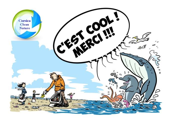 Nettoyage de la plage du Ricanto lundi 25 octobre à 16h par l'association Corsica Clean