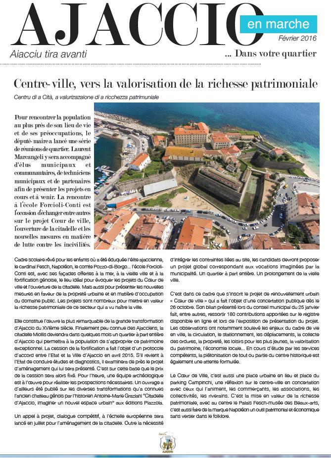 Ajaccio en Marche dans votre quartier... citadelle, vieille ville