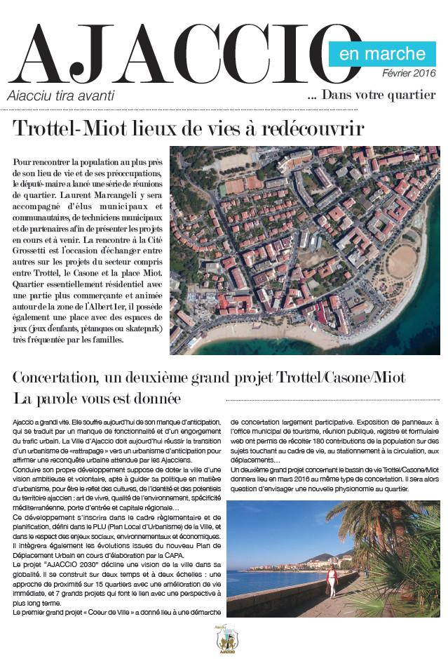 Ajaccio en Marche dans votre quartier... Trottel-Miot
