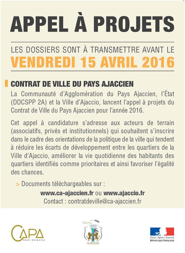APPEL A PROJETS CONTRAT DE VILLE 2016