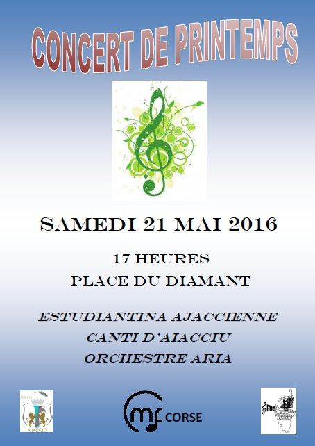 Concert de printemps de la Fédération Musicale de Corse samedi 21 mai