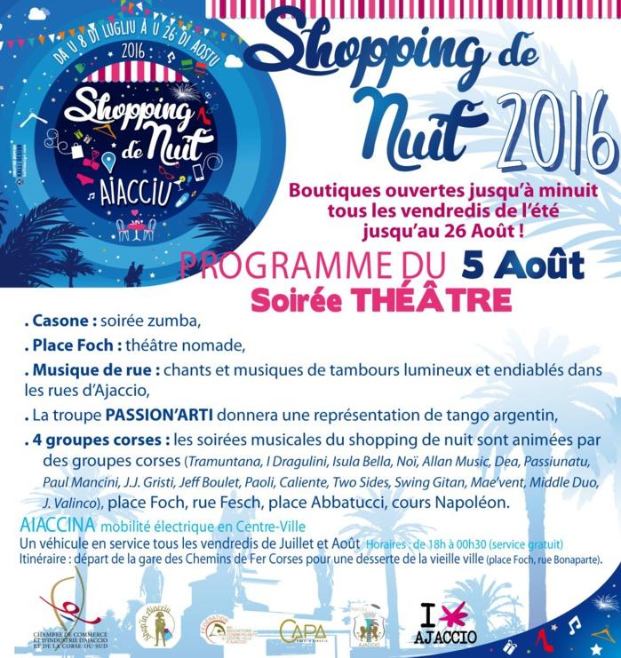 Shopping de nuit vendredi 5 août soirée théâtre