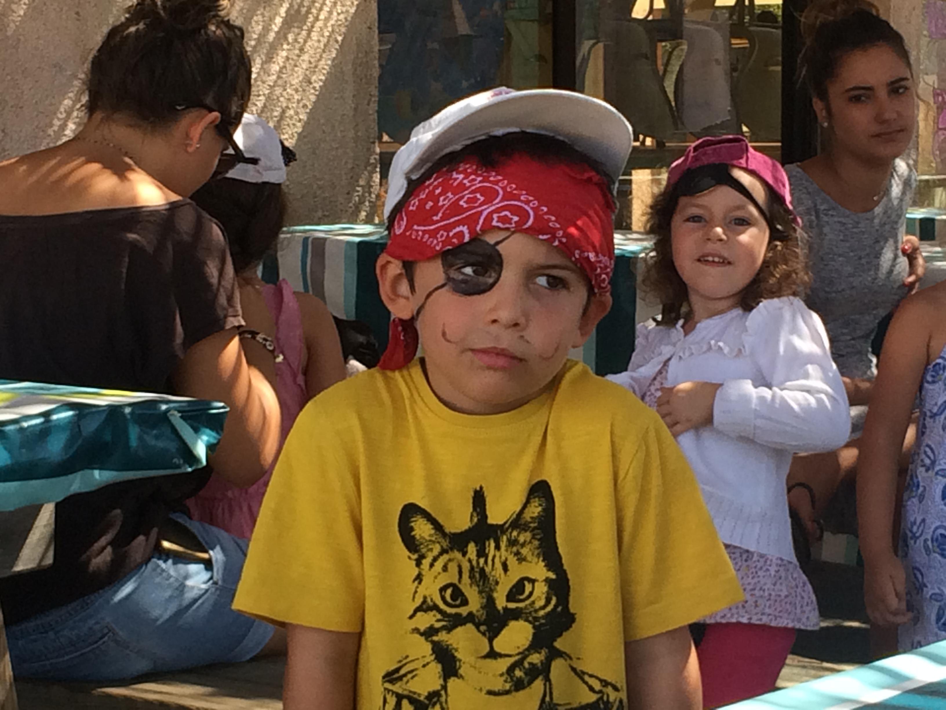 Marc, pirate pensif, au centre aéré de Baleone (Photo Ville d'Ajaccio).