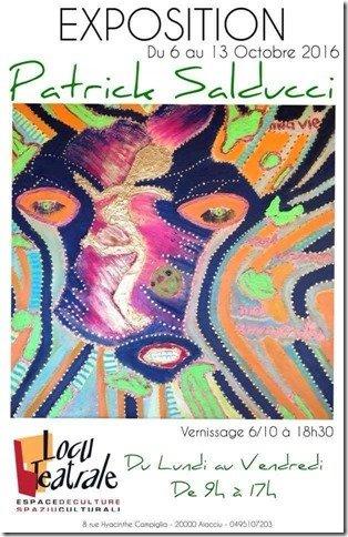 Jeudi 6 Octobre Exposition de peinture de l'artiste PATRICK SALDUCCI Locu teatrale