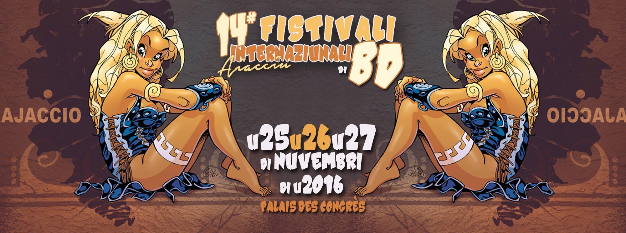 Festival de la Bd d'Ajaccio 2016 25 au 27 novembre au palais des congrés