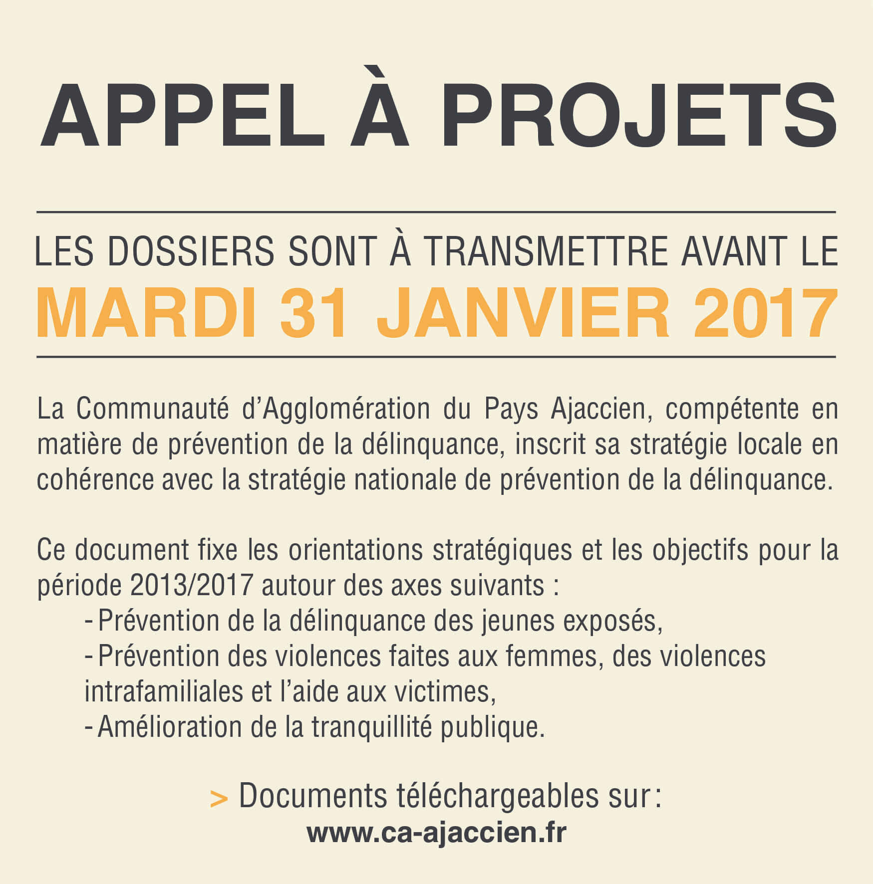 APPEL A PROJETS CONSEIL INTERCOMMUNAL DE SECURITE ET PREVENTION DE LA DELINQUANCE