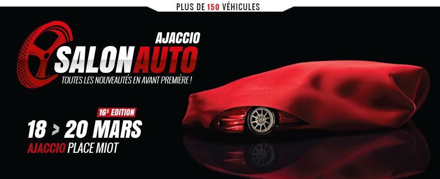 Du 17 au 19 mars Ville d'Ajaccio partenaire du Salon Auto 2017 Place Miot