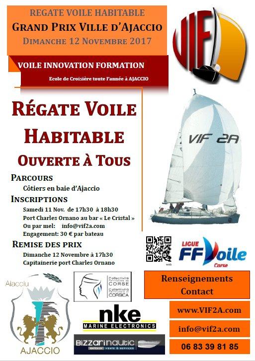 Régate Voile Habitable Grand Prix Ville d'Ajaccio dimanche 12 novembre