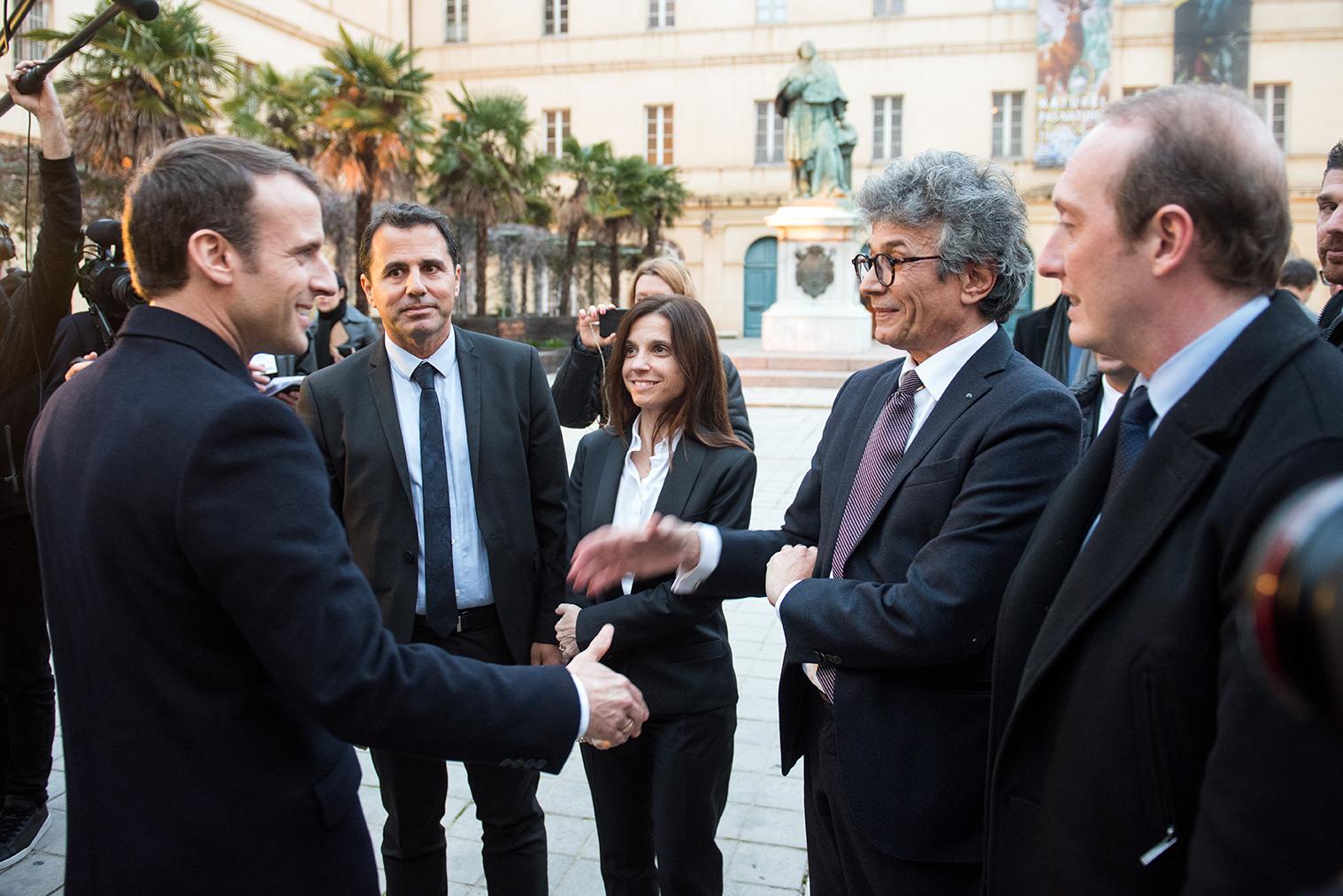 Visite du Palais Fesch, Philippe Costamagna, conservateur du musée Fesch et Marie-Laure Mosconi, directrice des patrimoines de la Ville d'Ajaccio.