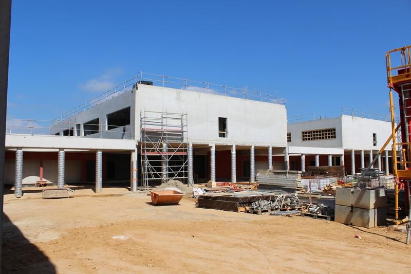 Visite du site du futur collège du Stiletto