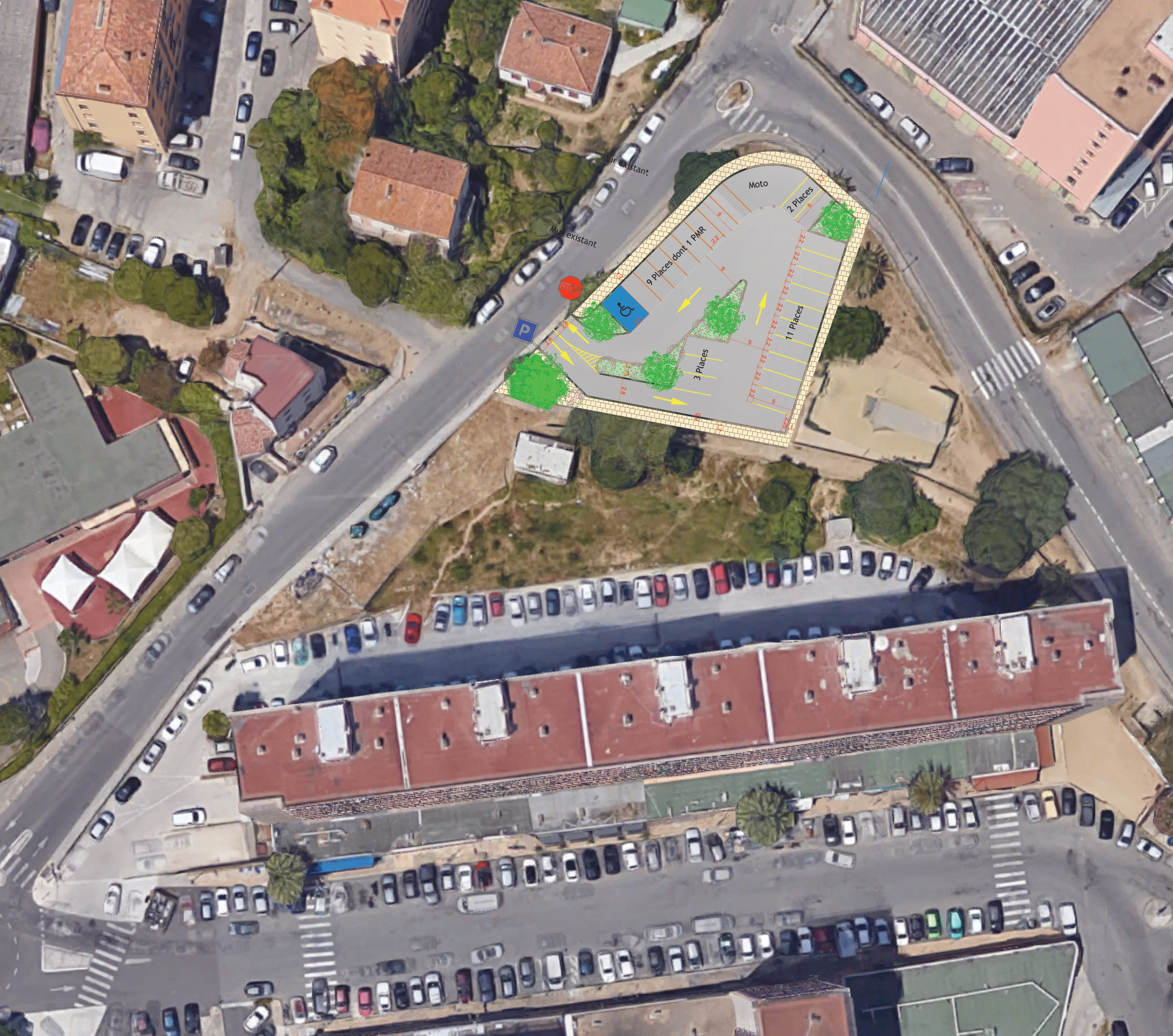 Création d'un parking gratuit au Loretto
