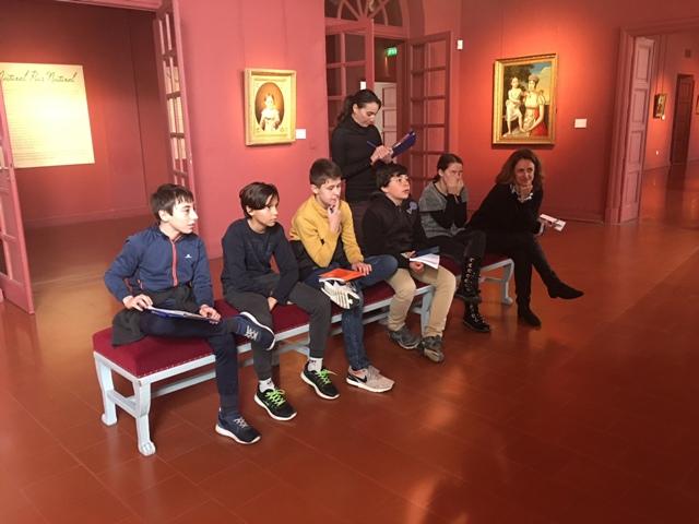 """Les adolescents du """"Club archéo"""" en visite au Palais Fesch"""
