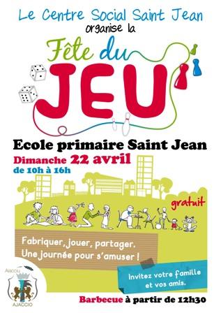 """La """"Fête du Jeu"""" le 22 avril à Saint Jean"""