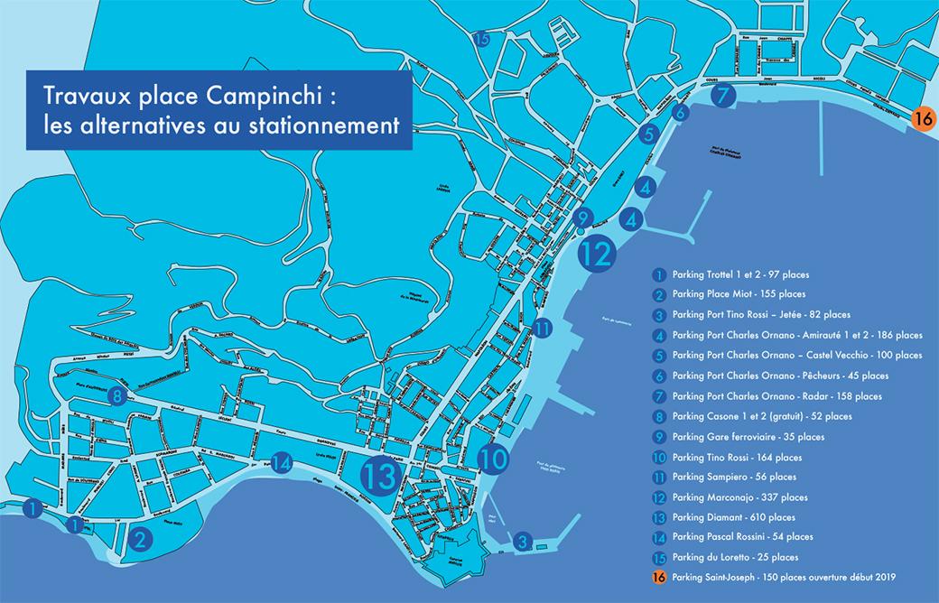 Travaux place Campinchi : les alternatives au stationnement