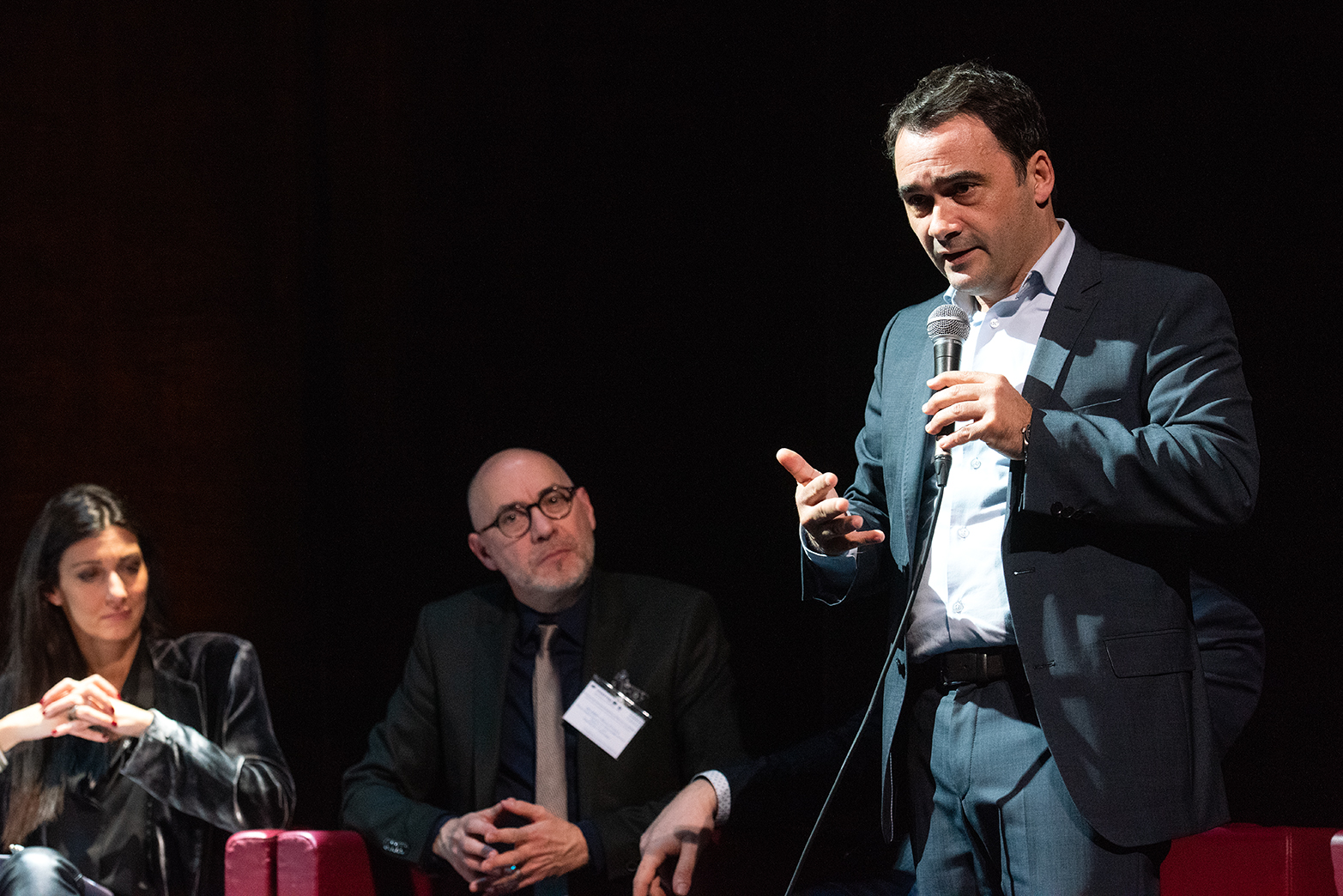 Le 1er adjoint Stéphane Sbraggia lors des rencontres européennes CIEVP sur l'attractivité des centres-villes, mardi 29 juin à Ajaccio (Photo Ville d'Ajaccio).