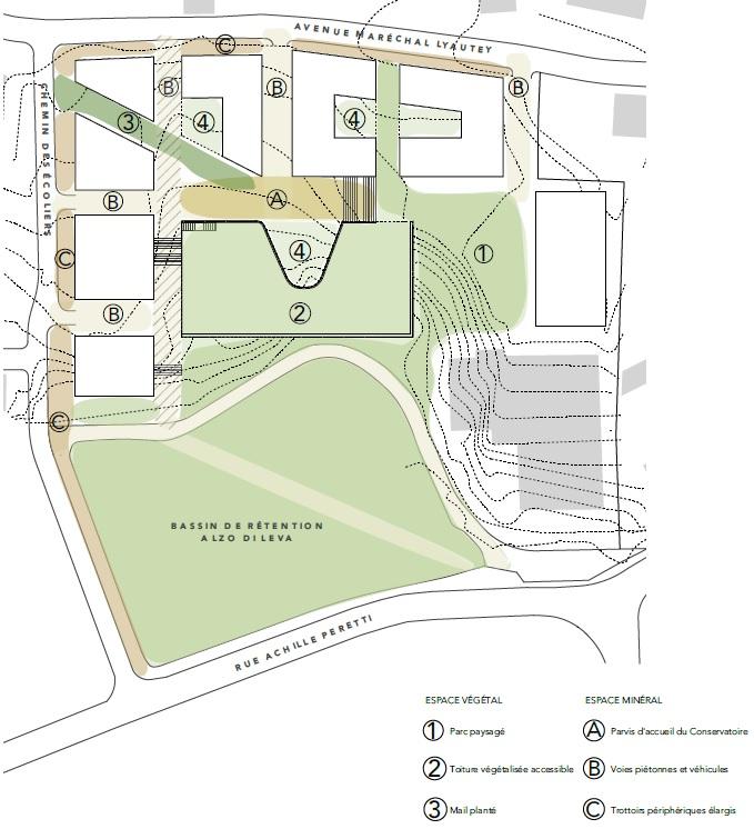 Plan extrait du mémoire architectural.