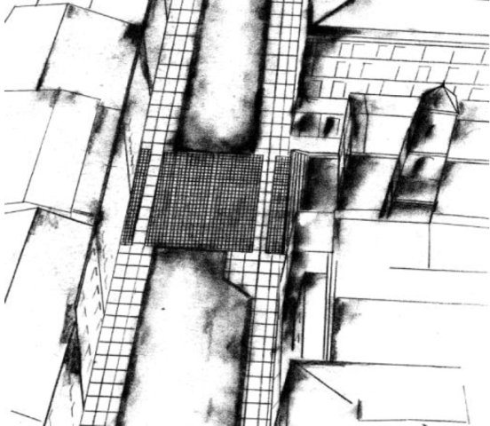 Croquis réalisé par la direction des Grands travaux de la Ville d'Ajaccio.