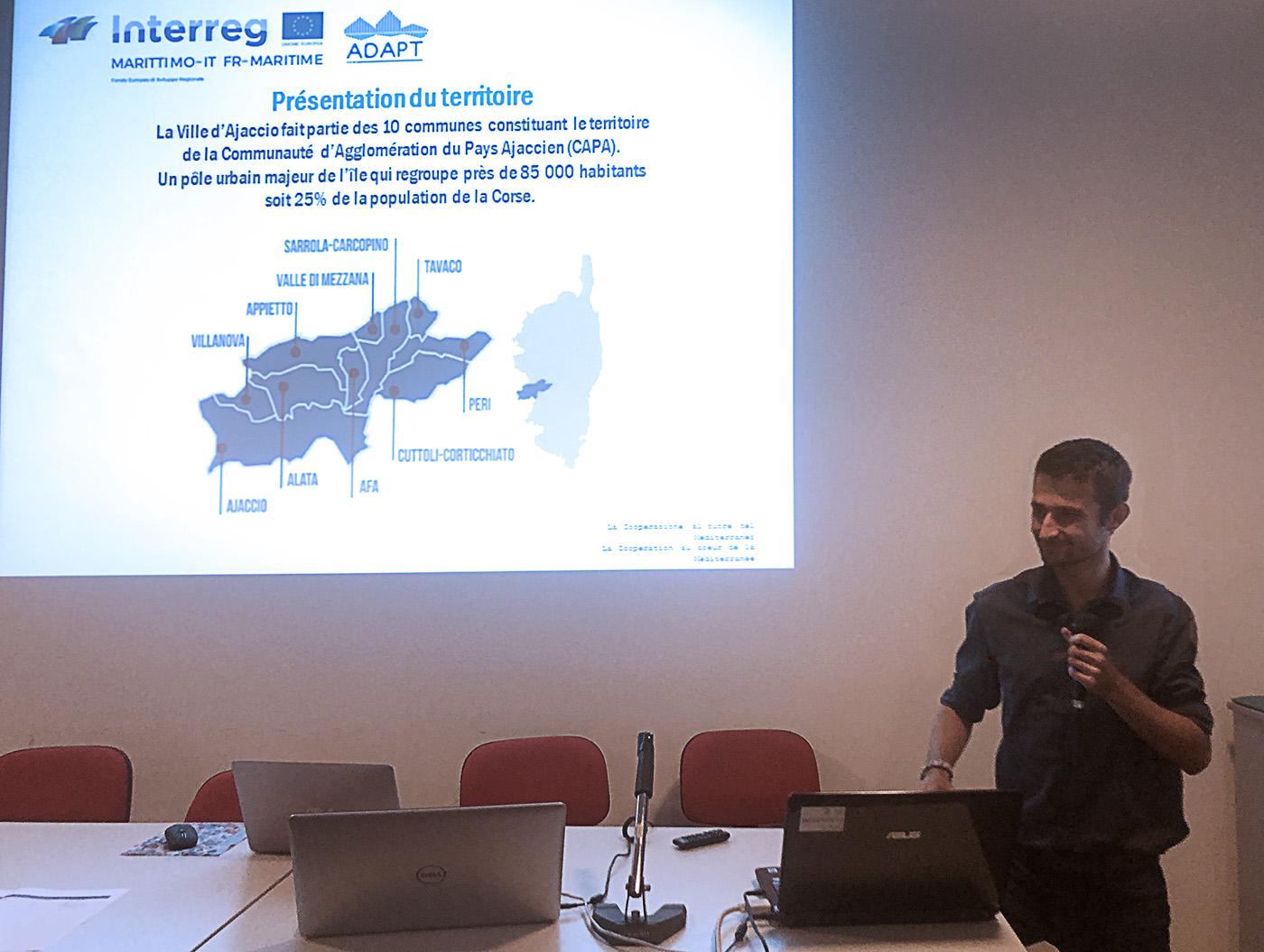 Kevin Mounier présente le plan d'adaptation aux changements climatiques de la Ville d'Ajaccio