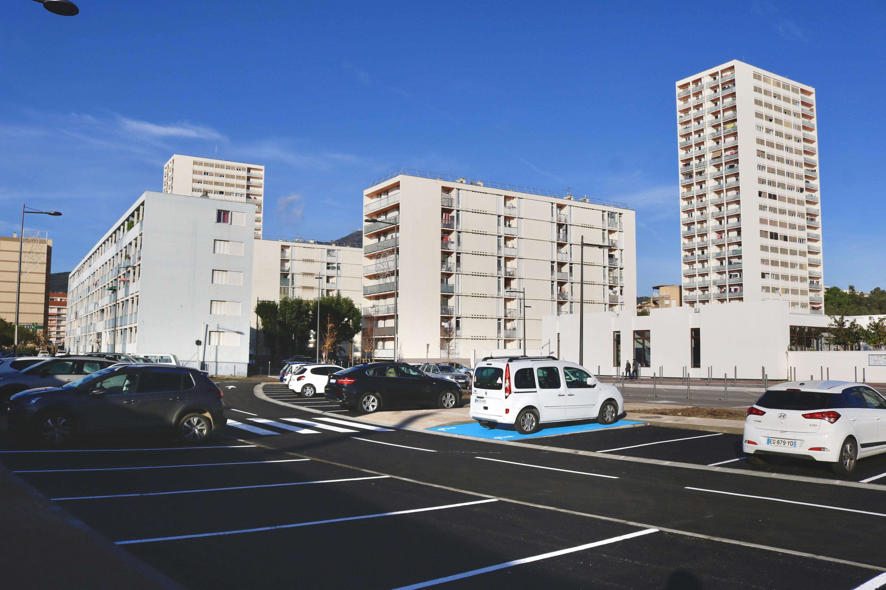Le nouveau parking des Salines compte 53 places (photo Ville d'Ajaccio)