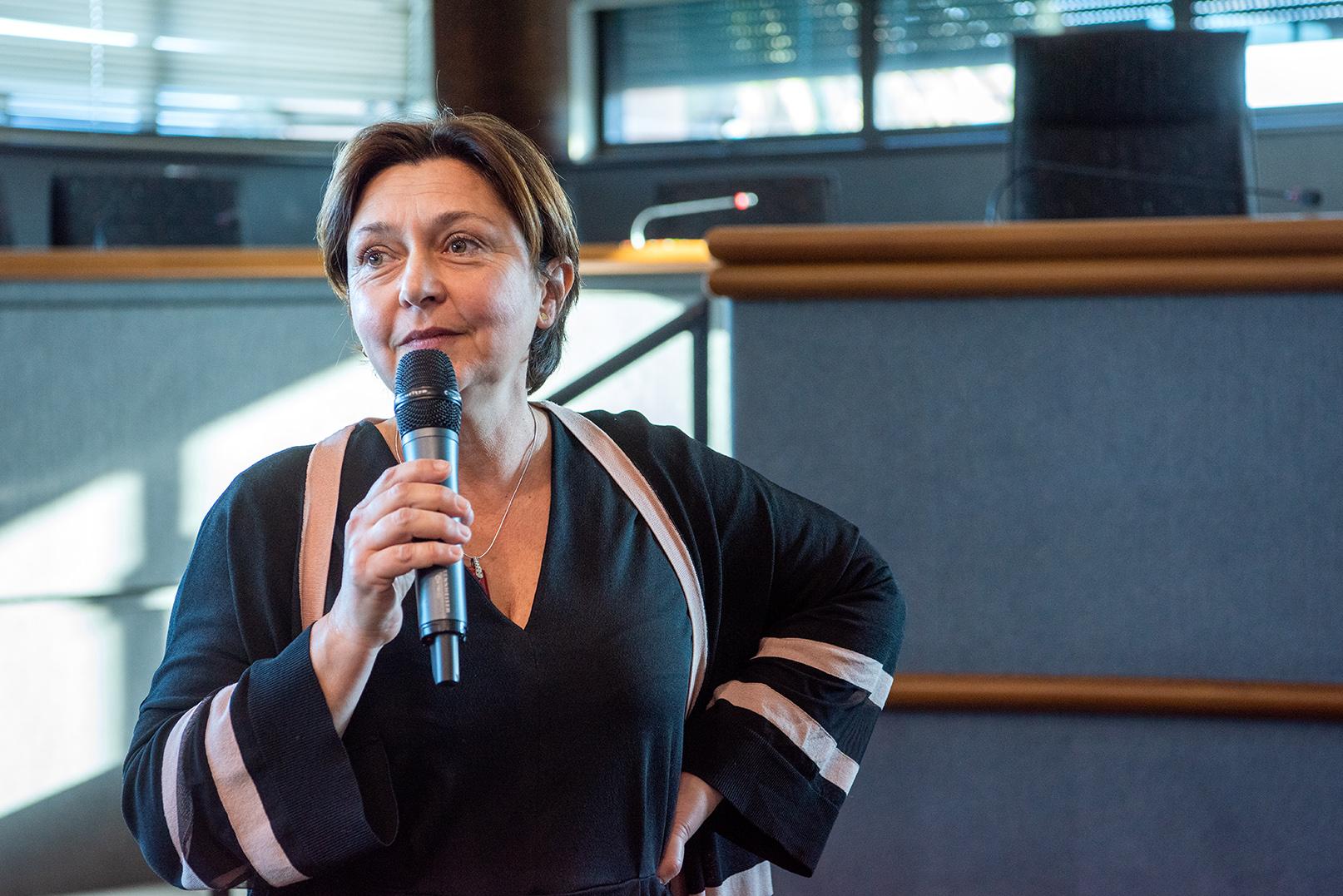 """""""La réalisation de l'EcoQuartier du Finosello relèvera du challenge"""", a déclaré la directrice générale de la société publique locale Ametarra, Sophie Boyer de la Giroday à l'occasion de la présentation de cette opération qui se veut exemplaire en termes d'aménagement durable (Photo Ville d'Ajaccio)."""