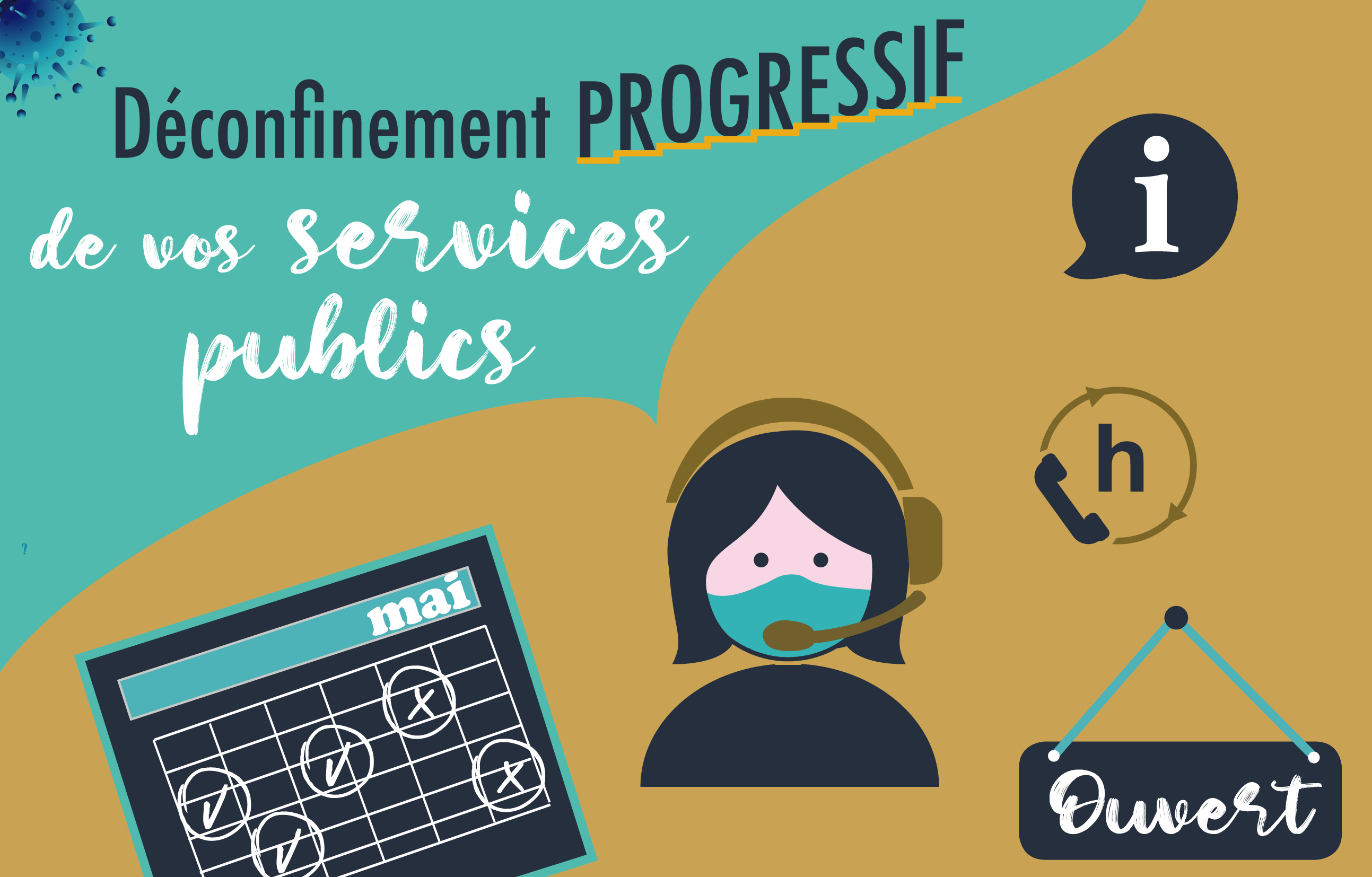 Fonctionnement des services publics de la Ville d'Ajaccio à partir du 11 mai