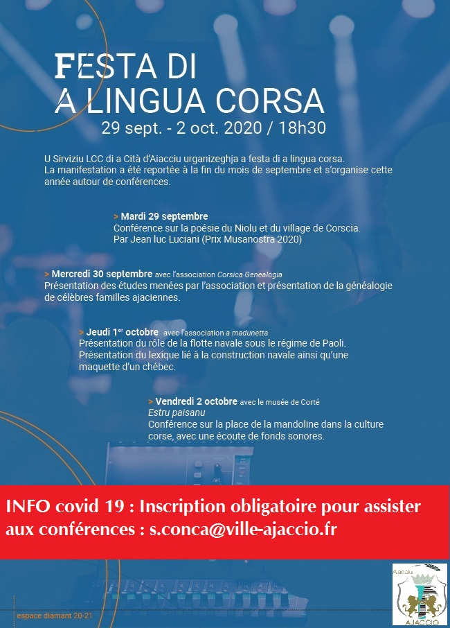 Festa di a lingua corsa 2020 (Spaziu Diamante)