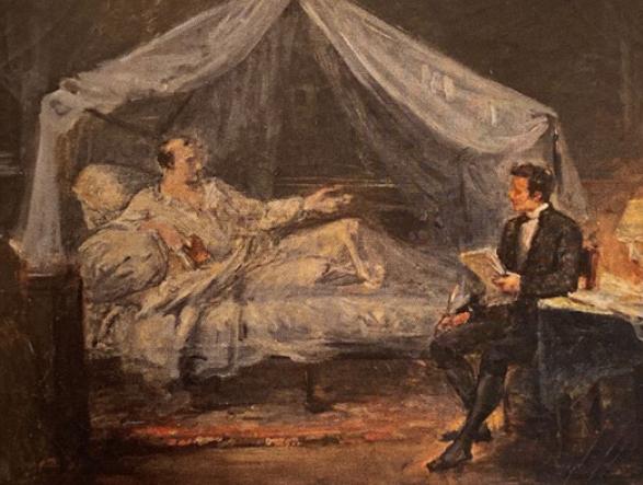 Ary Scheffer, Napoléon dictant ses souvenirs à Las Cases, Versailles, musée Lambinet pour l'exposition Napoléon, Légendes.