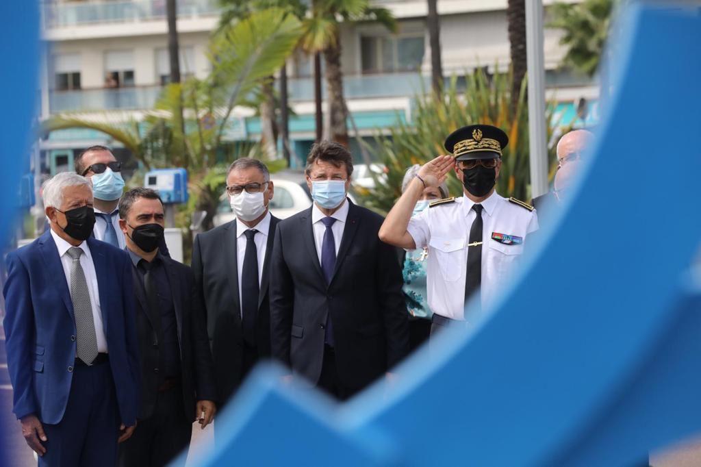 La cérémonie en mémoire des victimes du crash de la Caravelle Ajaccio/Nice s'est déroulée à Nice ce vendredi 10 septembre en présence du premier adjoint de la Ville d'Ajaccio (Photos DR).