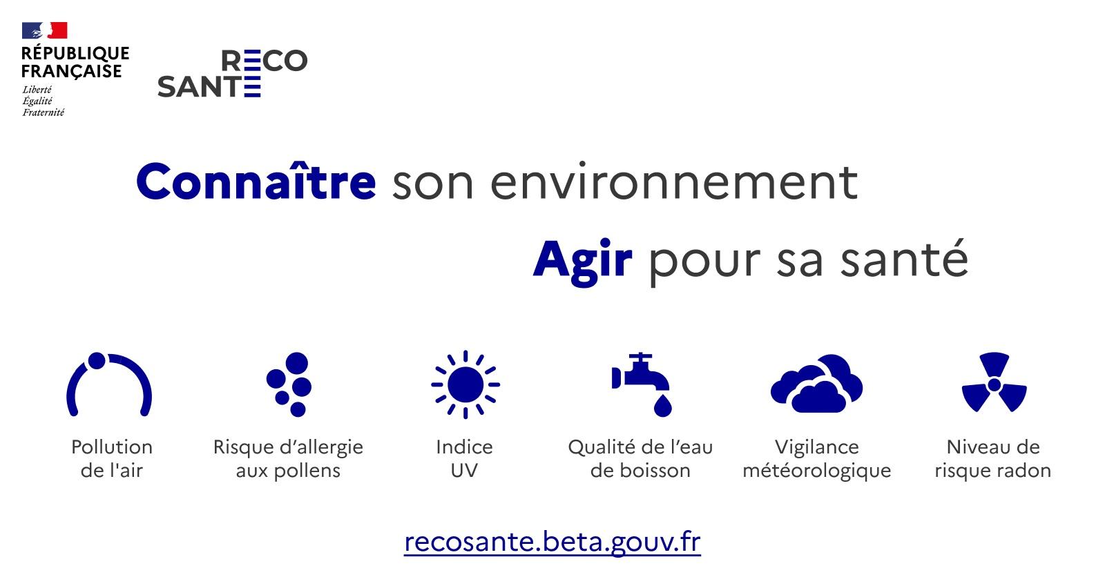 RECOSANTÉ : Connaître son environnement Agir pour sa santé