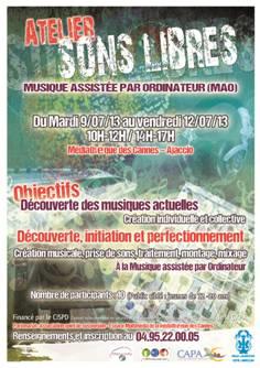 « Sons libres » un atelier pour s'initier à la Musique Assistée par Ordinateur à la Médiathèque des Cannes