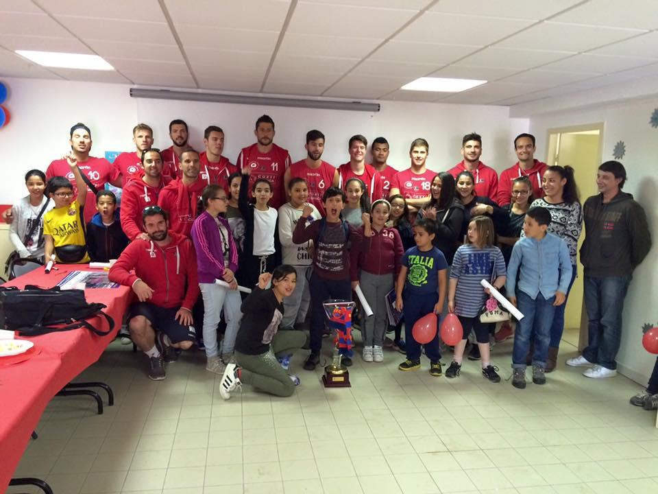Le GFCA Volley à la rencontre des jeunes du centre social des Salines le 27 avril