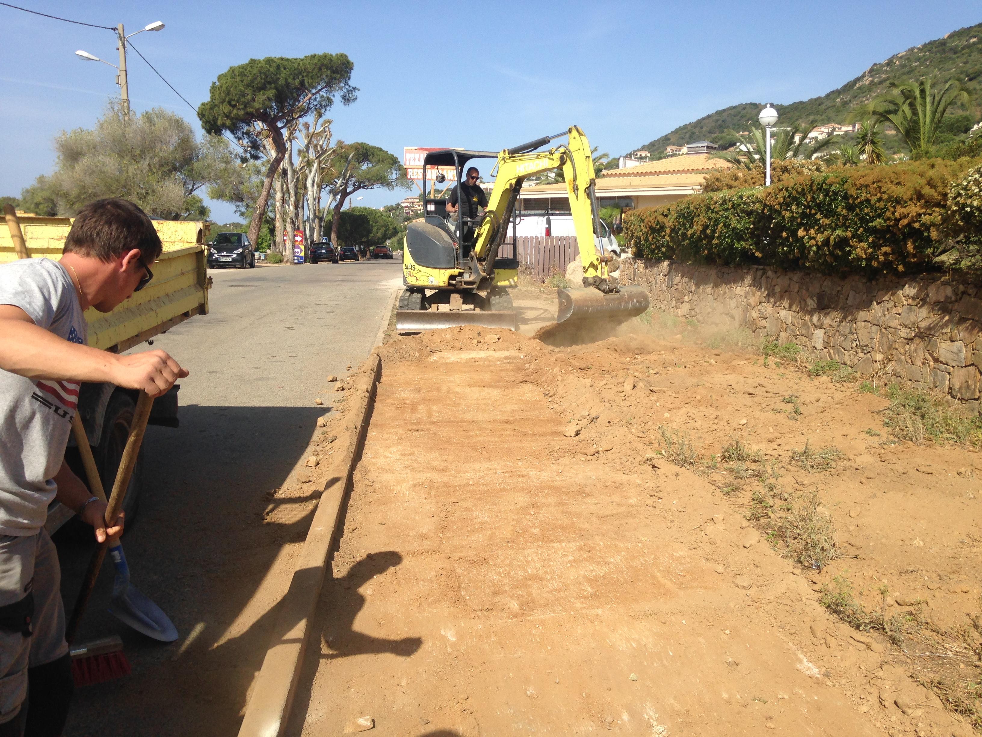 Amélioration du cheminement piéton - route des Sanguinaires