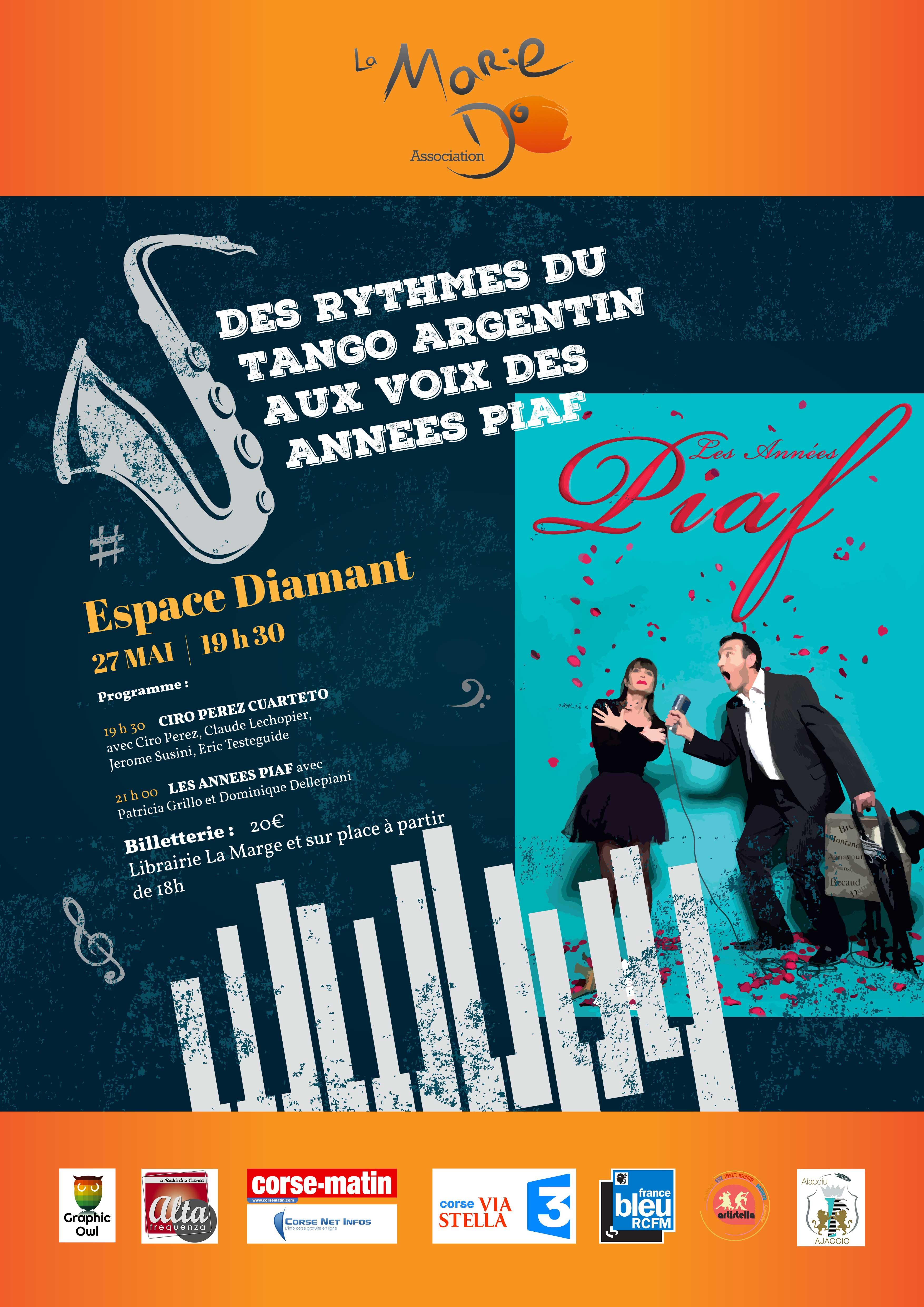 Soirée les Années Piaf au profit de la Marie Do le 27 mai à l'Espace Diamant