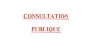 AVIS DE CONSULTATION PUBLIQUE DANS LE CADRE DE LA REVISION ALLÉGÉE DU PLAN LOCAL D'URBANISME