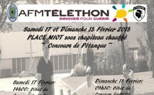 Concours de pétanque pour le téléthon place Miot