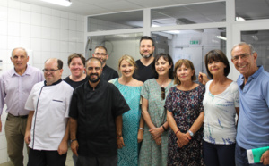 Visite des cuisines des Jardins de l'Empereur mercredi 1er août