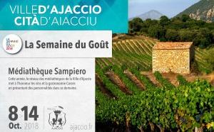 « La semaine du goût » à la médiathèque Sampiero Du 08 au 14 octobre 2018