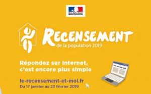 Recensement de la population 2019 du 17 janvier au 23 février