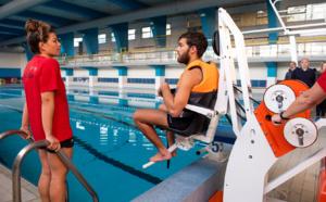 Handicap, inauguration des fauteuils de mise à l'eau