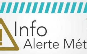 Vigilance jaune « situation météorologique à surveiller » pluies/inondations/orage du mercredi 14 octobre 14h au jeudi 15 octobre 16h
