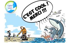 Nettoyage de la plage du Ricantu lundi 25 octobre à 16h avec l'association Corsica Clean Nature