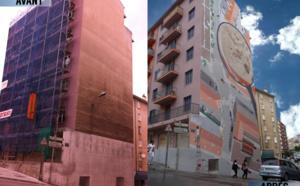 Votez pour Ajaccio et Leonor Rieti artiste peintre en course pour les Golden Street Art pour sa fresque murale !